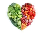 Coloured Veggie Heart